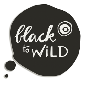 Black to Wild - Logo (shadow light)